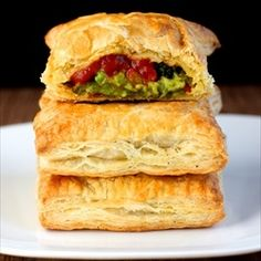 Veggie Stuffed Puff Pastries by Cookingthumb