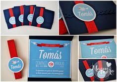 Tarjetas, invitaciones Baby Shower by Maqui Mora Eventos  #babyshower #invitación #nautical #party