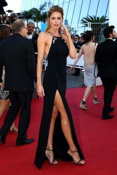 Doutzen Kroes in Mugler #Cannes2015   - HarpersBAZAAR.com