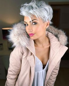 Today we have the most stylish 86 Cute Short Pixie Haircuts. We claim that you have never seen such elegant and eye-catching short hairstyles before. Pixie haircut, of course, offers a lot of options for the hair of the ladies'… Continue Reading → Short Wavy Pixie, Short Grey Hair, Blonde Pixie, Short Pixie Haircuts, Short Blonde, Pixie Hairstyles, Short Hair Cuts, Short Sassy Hair, Wavy Pixie Haircut