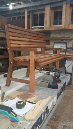 This item is not available – Woodworks Wood Pallet Crafts, Wooden Pallet Furniture, Diy Wood Projects, Home Projects, Diy Furniture, Wooden Garden Benches, Diy Outdoor Table, Woodworking Bench, Chair Design