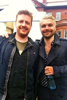 With Simon Neil from Biffy Clyro One Big Weekend 2013
