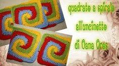 Piastrella alluncinetto a sbalzi crochet granny square cuadrado