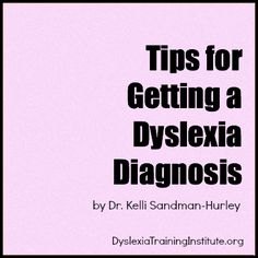 Great advocacy tips for getting an official dyslexia diagnosis. My son is homeschooled so this doesn't apply to me but great information nonetheless!