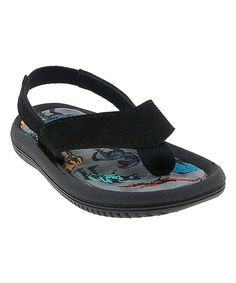 Take a look at this Capelli New York Black Dinosaur Flip-Flop today!