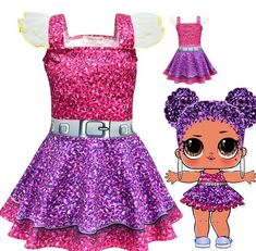 lol surprise dolls Game Girl Dresses skirts cosplay Costume party fancy dress up Costumes Avec Tutu, Costume D'halloween Fille, Doll Costume, Girl Costumes, Costume Dress, Halloween Party Kostüm, Childrens Halloween Costumes, Halloween Cosplay, Girl Halloween