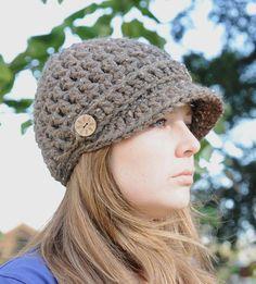 Newsboy Hat Pattern Crochet Hat Pattern by SimplyMadeByErin, $5.00
