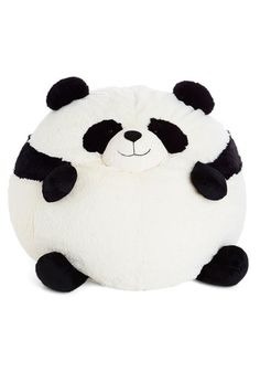 Ever since this soft panda bean bag chair by Squishable came into your life, every day has been a party! This massive, rotund panda is perfect for lounging on when you're watching TV or for snuggling up to as you sleep. This versatile panda pillow is just so adorable that you can't help but smile it every time you see it!