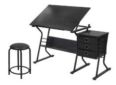 Amazon.com: STUDIO DESIGNS Eclipse Craft Center in Black / Black 13365