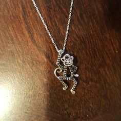 New Sterling and Black Diamond Monkey Pendant! This is new, comes with a 21 inch chain, and the pendant! It is such a cute and unique piece!! Sterling & Diamonds  Jewelry
