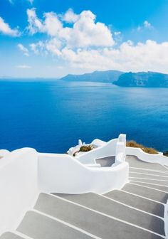 Santorini Island, Greece by EpicStockMedia. Santorini Island, Greece, Beautiful View of Blue Ocean and Traditional Dome Church Architecture Places Around The World, Oh The Places You'll Go, Travel Around The World, Places To Travel, Places To Visit, Around The Worlds, Mykonos, Oia Santorini, Zakynthos