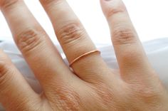 Rose Gold Stack Ring Everyday Simple Thin Ring by BlueRidgeNotions