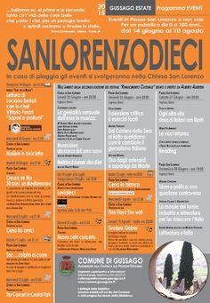Tra giugno e agosto 2015 la quarta edizione di Sanlorenzodieci - http://www.gussagonews.it/sanlorenzodieci-giugno-agosto-2015/