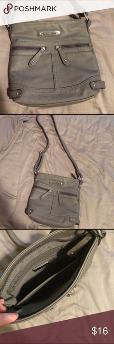 Grey, Rosetti Brand Purse Grey, satchel purse from JC Penney. Only used for a short time, and in excellent condition! Rosetti Bags Satchels