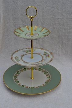 Gorgeous greens and golds 3 tier cake or  dessert  by SimplyChina
