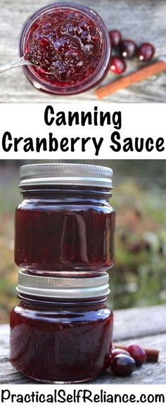 Cranberry Sauce Canning Cranberry Sauce ~ Jellied or Whole Berry ~ Cranberry Sauce Recipe for Home Canning Cranberry Chutney, Cranberry Salad, Whole Berry Cranberry Sauce Recipe, Canning Cranberry Sauce, Chili Chutney, Homemade Cranberry Sauce, Cranberry Jelly Recipes, Cranberry Juice, Deserts