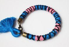 Textile Wrapped Bracelet  Textile Bracelet  by crystalglowdesign