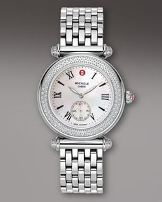 Michele Watches Caber Diamond Watch - Neiman Marcus