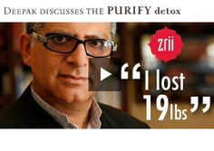 Deepak Chopra discusses benefits of Zrii Antioxidant Drink and The Purify 3-Step Detox System