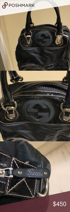 Gently used supple leather Gucci handbag Gently enjoyed and used. Soft leather! Gucci fabric lining. I will throw in Gucci shoulder strap that was separate from purse. Gucci Bags Totes