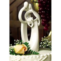 Circle of Love Bride & Groom Entwined Figurine Wedding Cake Topper Top. #Weddings Daisy Days