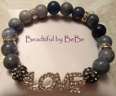 Blue Jean Love~with natural blue jasper. Blue Jasper is a rare find. Jasper is a Power and Protection Stone. It gives one the courage to speak out and have personal independence. It can keep you from getting carried away, or lead astray, and being diverted from your goals. Jasper also helps to keep the emotions balanced.