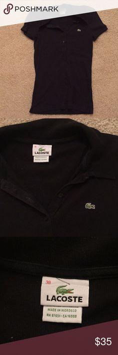 Lacoste polo shirt Good condition black Lacoste women's polo Lacoste Tops Tees - Short Sleeve