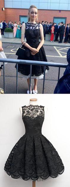 black prom dress, vintage prom dress, short prom dress, 2017 prom dress, little black dress