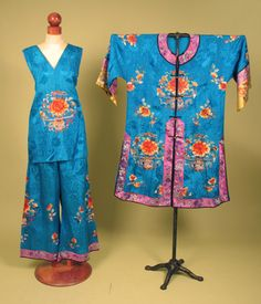 Embroidered Chinese PJ Set, c. 1930<br /> Session 2 - Lot 421