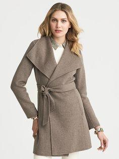 Banana Republic | Draped Wool Coat