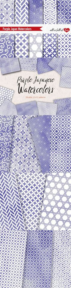 Purple Watercolor Background Pattern. Wedding Card Templates. $7.00