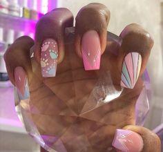 Pisces Tattoos, Gold Glitter Nails, Gorgeous Nails, Mani Pedi, Short Nails, Cute Nails, Acrylic Nails, Nail Designs, Nail Art