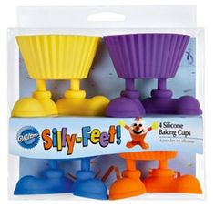 Silly Feet by wilton: Silicon baking cups for  cupcakes with feet!  #Silly_Feet #Cupcakes #Wilton