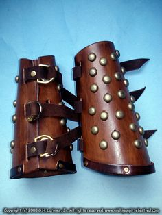 I plan on making bracers similar to these.
