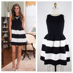 sleeveless black/white dress Sleeveless Cute Black/White dress. Zipper at the back. 68% Rayon/ 27% Nylon/ 5% Spandex.❌No, pp, No ebay, No trades❌ PRICE FIRM UNLESS BUNDLE‼️ Dresses