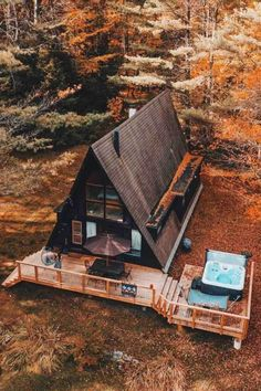 Log cabins, mid-century A-Frames & cozy cottages perfect for experiencing the Green Mountain State's most beautiful terrain and best outdoor activities Tiny House Cabin, Tiny House Design, Cabin Homes, A Frame House Plans, A Frame Cabin, A Frame Homes, Cabins In The Woods, House In The Woods, Little Cabin