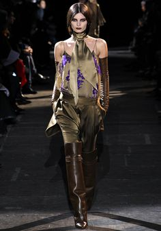 Brilliant golden khaki tones on this Givenchy equestrian look