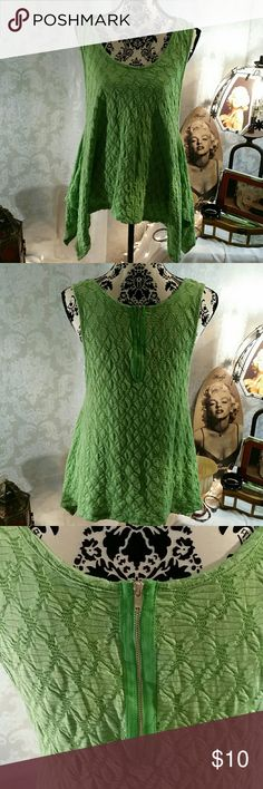 Tank top Green swing tank top with zipper detail in back. Maria Gabrielle  Tops Tank Tops