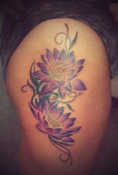 Lotus cover up by caz@portsmouth ink