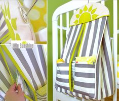 Sew a Little Sunshine hanging #diaper stacker. Great project for #baby from @Sew4Home #sewing