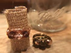 Wire Wrapped Statement Ring With Czech Glass Beads Detail by fromnicolewithlove on Etsy