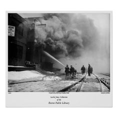 Fighting Fenway Park Fire Posters