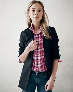 Olivia Jacket--I need a go with everything jacket. This looks good for cold seasons. I like the longer length, updated lapel, unstructured style. Fatigue green, deep/dark maroon . . .