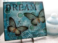 Dream Collage with butterflies