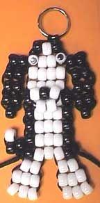 Peter the Springer Spaniel pony bead keychain