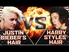 Justin Bieber's Hair VS Harry Styles' Hair YouTubers Decide