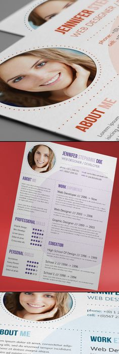 Circles Resume Template by Hertzel Betito, via Behance