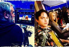Luc Besson mostra Cara Delevigne e Dane DeHann nos bastidores de #Valerian >> http://glo.bo/1VUKtwu