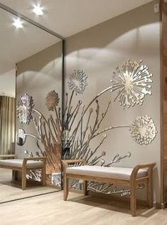 Awesome ideas for decorating the hallway with modern wall mirror designs, home interior wall mirror decor ideas for modern style apartments 2019 Home Decor Shops, Home Wall Decor, Living Room Decor, Ceiling Design, Wall Design, House Design, Luxury Homes Interior, Home Interior Design, Deco Zen