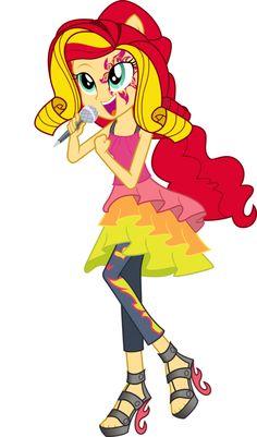 #945424 - artist:theshadowstone, equestria girls, high heels, microphone, rainbow rocks, safe, singing, solo, spoiler:rainbow rocks, sunset shimmer, vector - Derpibooru - My Little Pony: Friendship is Magic Imageboard